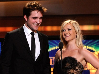 Rob Pattinson Takes The Stage With Reese Witherspoon At ACM Awards Show