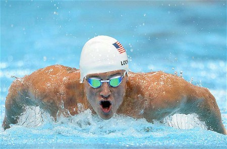 Swimming Phenom Ryan Lochte Goes for Second Gold Medal in Men's 200m Freestyle