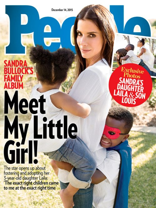 Sandra Bullock Confirms Adoption Of Baby Girl: Poses For People Magazine With Louis And New Daughter Laila