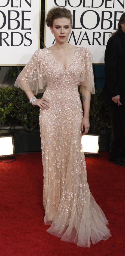Scarlett Johansson At The 68th Annual Golden Globe Awards