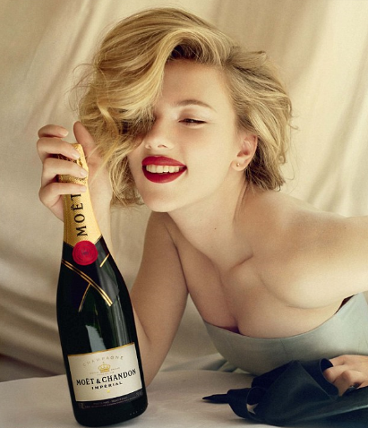 Scarlett Johansson Gets Her Sexy On Pimping Out Champagne