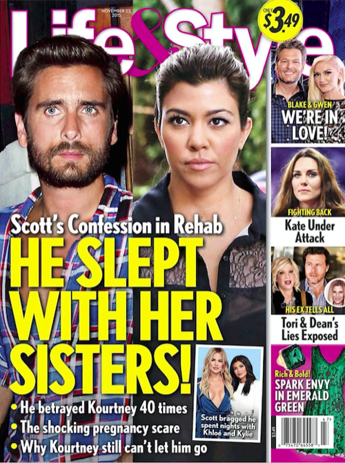 Scott Disick Brags About Sleeping With Khloe Kardashian and Kylie Jenner: Rehab Sponsors Insist he Tell Kourtney Kardashian