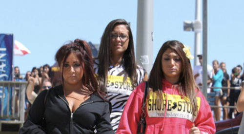 Deena Cortese & Snooki On The Beach Today - Photos