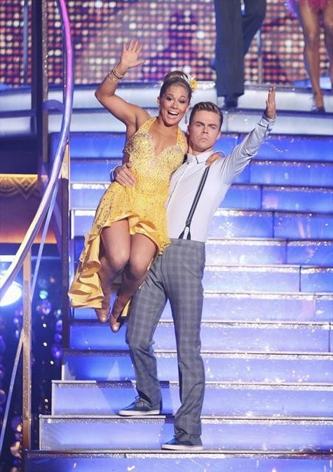 Shawn Johnson Dancing With the Stars All-Stars Jive Performance Video 10/01/12