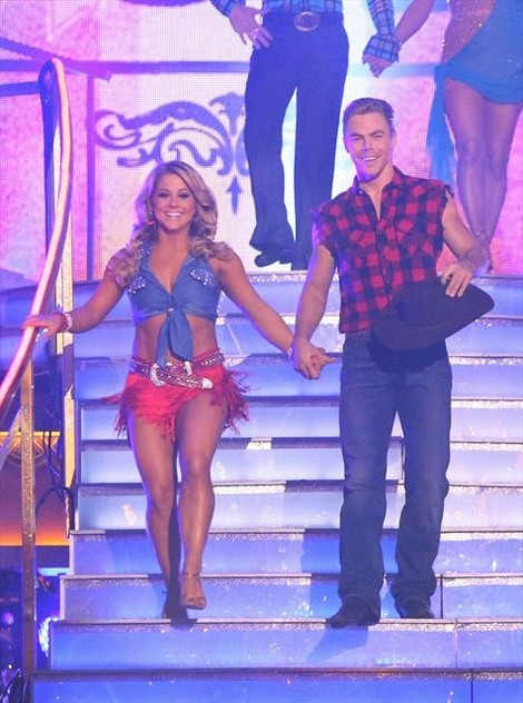 Shawn Johnson Dancing With the Stars All-Stars Tango/Paso Doble Fusion Performance Video 11/5/12
