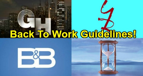 Soap Operas First Step To Filming New Episodes: Entertainment Task Force Releases Return-To-Work Safety Guidelines