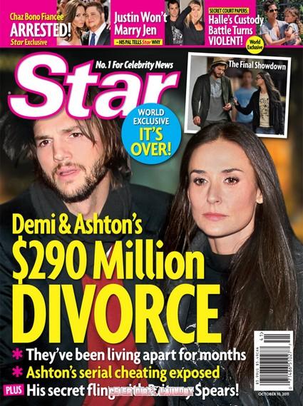 Star Magazine: Demi Moore & Ashton Kutcher's $290 Million Divorce