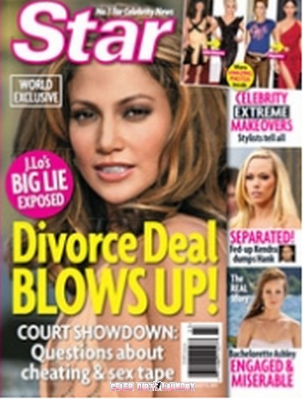 Star Magazine: J-Lo's Big Lie Exposed, Divorce Deal Blows Up!