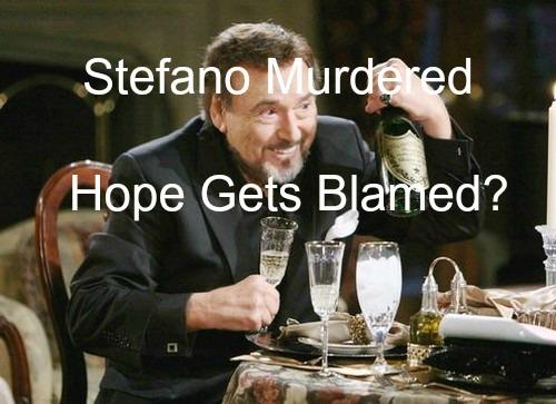 Days of Our Lives (DOOL) Spoilers: Major Character Murder Sends Shock Waves Through Salem - Stefano Killed, Hope Blamed?