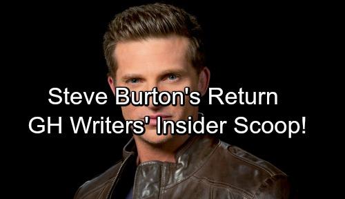General Hospital Spoilers: GH Writers Give Inside Scoop On Steve Burton's Return