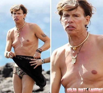 Steven Tyler Looking Like An Abused Sponge (Photos)