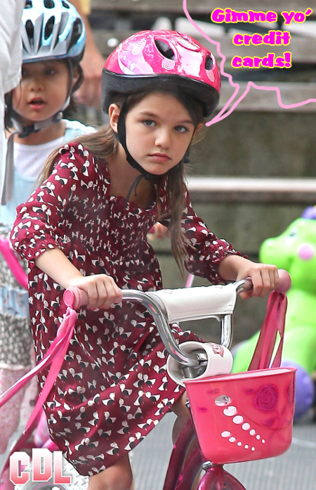 Suri Cruise is Obsessed with Imaginary Friends and Loves her Personal Credit Cards