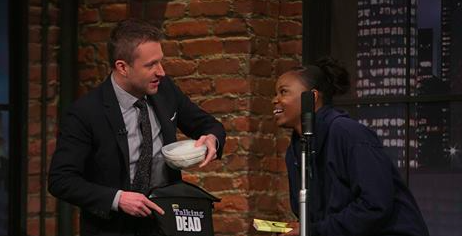 "Talking Dead Recap - Theories About Ron and the Bleeding Wall: Season 6 Episode 5 ""Zachary Levi and Alexandra Breckenridge"""