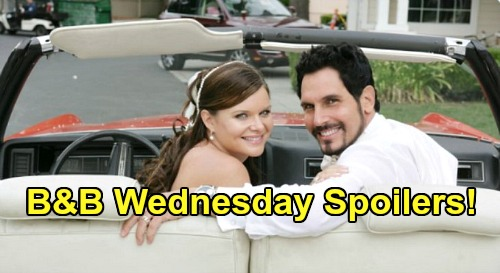 The Bold and the Beautiful Spoilers: Wednesday, May 6 - Bill & Katie Get Married - Eric's Unhappy About Wedding Reception