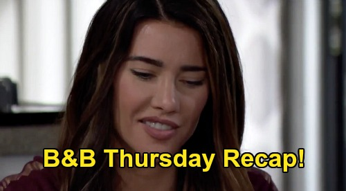 The Bold and the Beautiful Recap: Thursday, August 6 - Steffy Happy When Finn Drops By - Shauna In LA Permanently