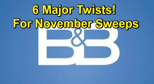 The Bold and the Beautiful Spoilers: 6 Major Twists for November Sweeps – Disturbing Discoveries, Cheating Shockers and More
