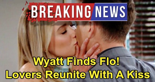 The Bold and the Beautiful Spoilers: B&B Cliffhanger Conclusion Revealed – Wyatt Finds Flo, Lovers Reunite with a Kiss