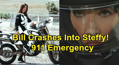 The Bold and the Beautiful Spoilers: Bill Crashes Car Into Steffy's Motorcycle – Calls 911, Steffy Rushed To Emergency