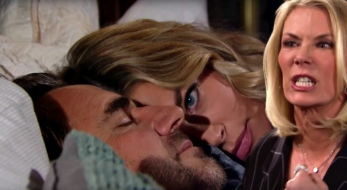 The Bold and the Beautiful Spoilers: Brooke Catches Ridge & Shauna in Bed Together – Couple Consummates Marriage, Sparks Outrage