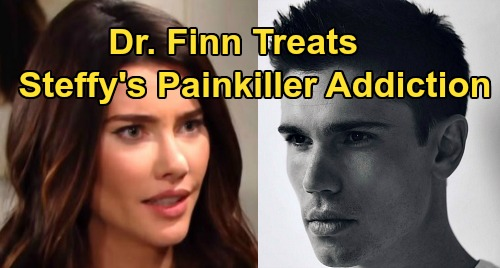 The Bold and the Beautiful Spoilers: Dr. John 'Finn' Finnegan (Tanner Novlan) Treats Steffy – Painkiller Addiction Complicates Love?