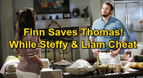 The Bold and the Beautiful Spoilers: Finn Saves Thomas' Life While Steffy Sleeps with Liam – Heroic Rescue as Exes Busy Cheating