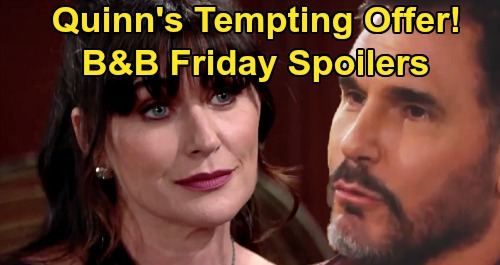 The Bold and the Beautiful Spoilers: Friday, August 21 - Quinn Offers Brooke To Bill - Ridge's Impossible Promise
