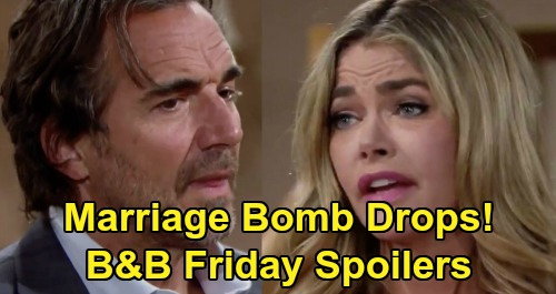 The Bold and the Beautiful Spoilers: Friday, August 7 - Shauna Drops Marriage Bomb on Shocked Ridge