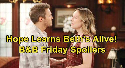 The Bold and the Beautiful Spoilers: Friday, June 5 - Hope Learns Beth Alive - Thomas & Liam Epic Rooftop Fight - Wyatt Dumps Flo
