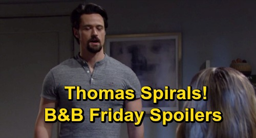 The Bold and the Beautiful Spoilers: Friday, October 23 Recap - Thomas Spirals - Julius Advises Zende To Go For Zoe