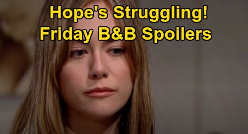 The Bold and the Beautiful Spoilers: Friday, October 30 - Hope's Struggling With Life - Ridge Lashes Out At Quinn
