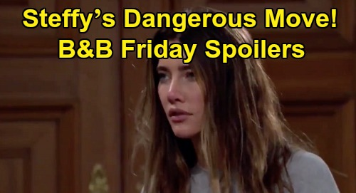 The Bold and the Beautiful Spoilers: Friday, September 25 - Steffy's Dangerous Move - Thomas' Heartfelt Apology To Zoe