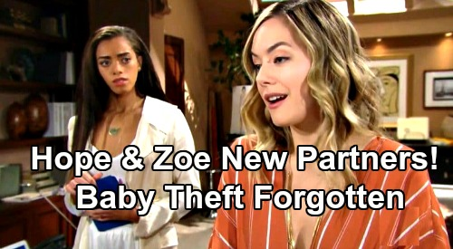 The Bold and the Beautiful Spoilers: Hope & Zoe Make a Deal, Form New Partnership – Can Baby Stealing Past Really Stay Buried?