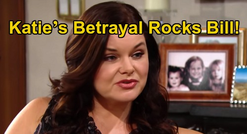 The Bold and the Beautiful Spoilers: Katie's Betrayal Rocks Bill, Twist in 'Batie' Reunion Story?