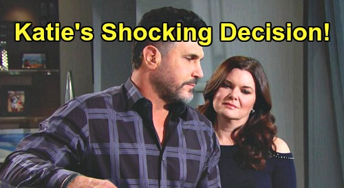 The Bold and the Beautiful Spoilers: Katie Logan's Bill Spencer Decision Revealed On New B&B Episodes?