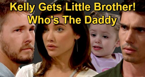 The Bold and the Beautiful Spoilers: Kelly Gets a Little Brother From Steffy - Who's The Boy's Daddy, Finn or Liam?