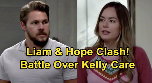 The Bold and the Beautiful Spoilers: Liam & Hope Clash Over Kelly – Recovering Steffy Out of the Picture as Mom?