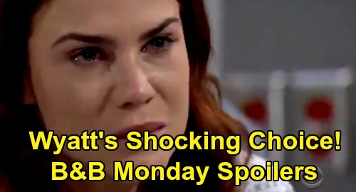 The Bold and the Beautiful Spoilers: Monday, August 3 - Wyatt's Shocking Choice For Sally Forgiveness - Steffy Fights Off Pain Meds