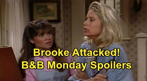 The Bold and the Beautiful Spoilers: Monday, June 8 - First Episode of B&B - Bill Confronts Ridge Over Caroline - Brooke Attacked