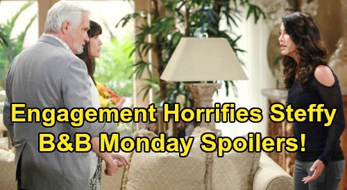 The Bold and the Beautiful Spoilers: Monday, May 25 - Steffy Horrified By Eric & Quinn's Engagement - Maya Sings At Dodgers Game
