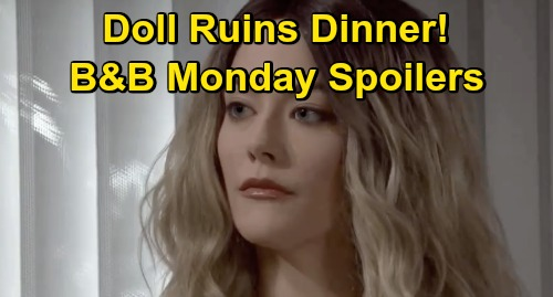 The Bold and the Beautiful Spoilers: Monday, November 23 - Hope Doll Ruins Family Dinner - Steffy & Liam Agree To Disagree