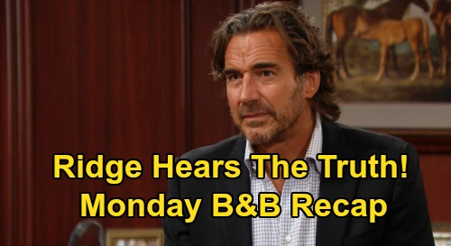The Bold and the Beautiful Spoilers: Monday, October 5 Recap - Brooke's Final Attempt To Stop Ridge & Shauna Wedding