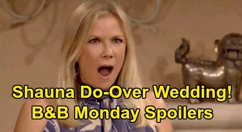 The Bold and the Beautiful Spoilers: Monday, September 14 - Ridge Contemplates Shauna Do-Over Wedding - Bill Offers Total Love