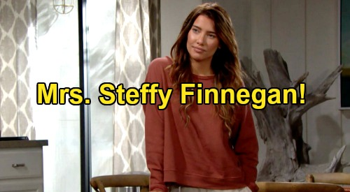 The Bold and the Beautiful Spoilers: Mrs. Steffy Finnegan – Finn Marriage Commitment After 'SINN' Baby Shocker?