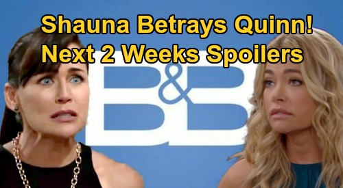 The Bold and the Beautiful Spoilers Next 2 Weeks: Shauna's Betrayal Infuriates Quinn – 2 Exciting Returns and Another Big Debut