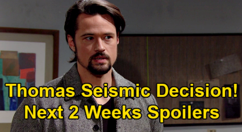 The Bold and the Beautiful Spoilers Next 2 Weeks: Thomas' Life-changing Decision – Eavesdropping Shocker – Romantic Getaway
