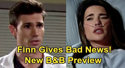 The Bold and the Beautiful Spoilers Preview: New Promo - Dr. Finn Gives Steffy Bad News - Ridge Rants At Bill For Near Death