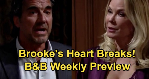 The Bold and the Beautiful Spoilers Preview: Week of August 10 - Ridge Marriage Breaks Brooke's Heart - Quinn & Shauna Secret Scheme