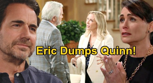 The Bold and the Beautiful Spoilers: Brooke Exposes Quinn & Shauna's Scheme At Ridge Wedding ReDo - Eric Publicly Dumps Quinn?