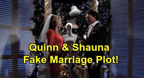 The Bold and the Beautiful Spoilers: Quinn Swears Shauna to Secrecy Over Elaborate Ridge Fake Marriage Plot?