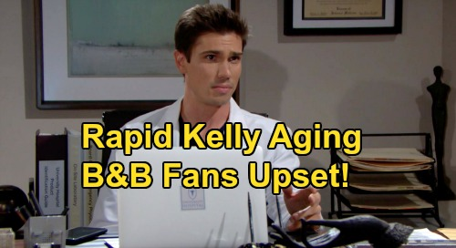 The Bold and the Beautiful Spoilers: Rapid Kelly Aging Riles Fans – Why SORAS Decision Upset Viewers, B&B History Rewrite Called Out